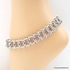 Centipede weave chainmaille anklet