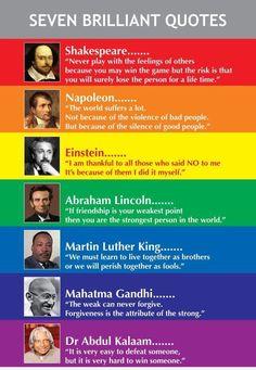 Seven brilliant quotes.