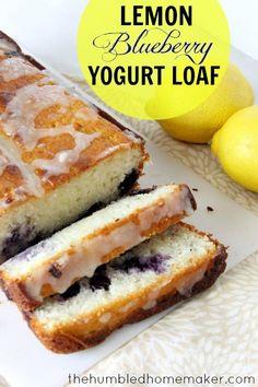 Lemon Blueberry Yogurt Loaf - TheHumbledHomemaker.com