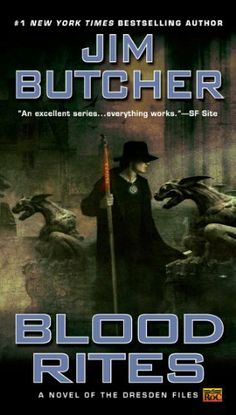 Blood Rites (The Dresden Files, Book by Jim Butcher. Harry Dresden, Chicago's only professional wizard, takes on a case as a favor to his friend Thomas-a vampire of dubious integrity-only to become the prime suspect in a series of ghastly murders. Cool Books, I Love Books, Used Books, Books To Read, My Books, Amazing Books, The Dresden Files Books, Penguin Publishing, Thriller Books