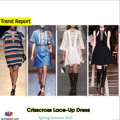 Crisscross Lace-Up Detail DressTrend for Spring Summer 2015. Paul and Joe, Gucci, Louis Vuitton, and Givenchy #Spring2015 #SS15