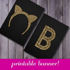 Bachelorette, printable party banner, gold glitter, glitter banner, hen party, bachelorette printable, glitter bachelorette, party banner on Etsy, $7.79