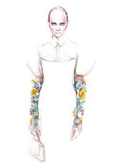DELPOZO FW 2016 fashion illustration by António Soares