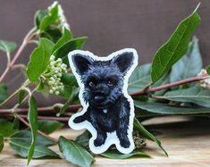 Handmade Stickers & Prints by PapercatCreative Black Schnauzer, Scottish Terrier, Scottie, Etsy Seller, Stickers, Creative, Dogs, Prints, Handmade