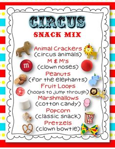 Circus snack mix FREEBIE