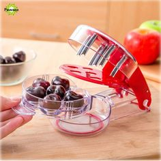 Creative Cherry Pitter Remover Machine Fruit Nuclear Corer Nordic Cherry Olive Pits Seed Stone Corer Remover Tools Kitchen Tools #Affiliate