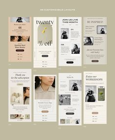 Newsletter Design Templates, Email Template Design, Email Newsletter Design, Email Templates, Email Design, Newsletter Layout, Newsletter Ideas, Instagram Story Template, Social Media