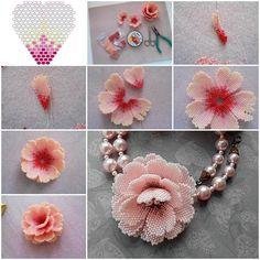 Creative Ideas - DIY Beautiful Small Beaded Flowers | iCreativeIdeas.com Follow Us on Facebook --> www.facebook.com/iCreativeIdeas