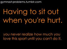 this may say 'gymnast problems' but I felt the same way when I broke my ankle. I missed it so much. Swimming is my sanity and I will go crazy without it