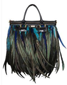 I want!!  Angel Jackson feather bag