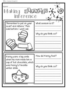 Winter activities and worksheets for First Grade. Math & literacy no prep