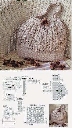 Free Crochet Bag Patterns Part 10 - Beautiful Crochet Patterns and Knitting Patterns Beau Crochet, Free Crochet Bag, Crochet Shell Stitch, Crochet Diy, Crochet Tote, Crochet Handbags, Crochet Purses, Crochet Stitches, Women's Handbags