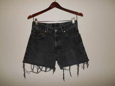 LEVI'S Vintage  Jeans  zip fly 550 cutoffs by ATELIERVINTAGESHOP