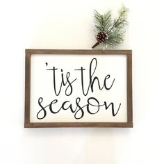 Tis The Season Christmas Sign - Holiday - Seasonal - Merry Christmas signs Christmas Wooden Signs, Holiday Signs, Farmhouse Christmas Decor, Outdoor Christmas, Winter Christmas, Christmas Time, Christmas Decorations, Holiday Decorating, Merry Christmas