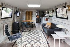 Eclectic Living Room by Chris Snook This entire house boat is gorgeous.