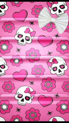 Ibabygirl i5 wallpapers animal print hearts with skull and girly skull shelf voltagebd Image collections