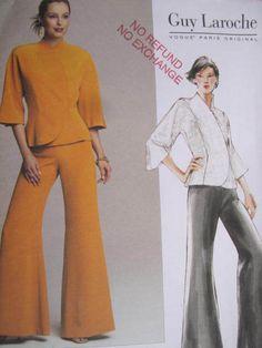 See Sally Sew-Patterns For Less - Guy Laroche Designer Paris Original Jacket