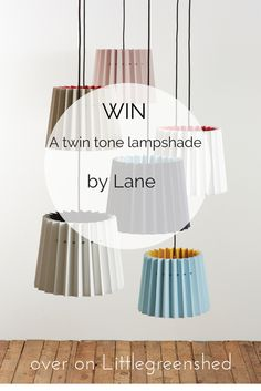 Win a Twin Tone lampshade by @lanebypost over on Littlegreenshed Blog.  In a colour of your choice.