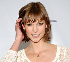 """The trimmed hair of Karlie Kloss has been declared the """"cut of the moment."""""""