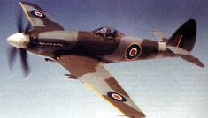 Photographs of the Supermarine Spiteful fighter, a planned replacement for the Spitfire in late World War Only 19 were built.