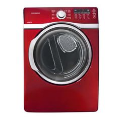 Samsung 7.4 cu. ft. Electric Dryer - Potomac Red 7.0 cu. ft. and greater