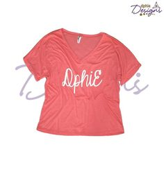 Stay trendy & casual in the DPhiE Designs Coral Flowy V-Neck!