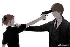 Sougo Okita x Kagura [OkiKagu], Gintama Sad Anime, Anime Love, Anime Guys, Fanarts Anime, Anime Characters, Anime Cosplay, Manga Art, Manga Anime, Okikagu Doujinshi