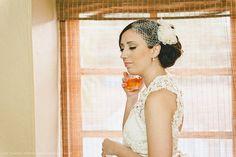 Vestido criado pela Carla e executado por costureira. O casamento de Carla e Derek foi publicado   no Euamocasamento.com, e as fotos são de   Ana Telma Fotografia. #euamocasamento   #NoivasRio #Casabemcomvocê