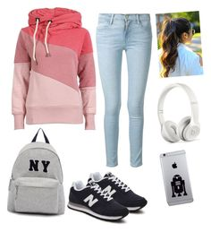 """""""Untitled #4"""" by yekshuxian ❤ liked on Polyvore featuring interior, interiors, interior design, home, home decor, interior decorating, Frame Denim, New Balance, Joshua's and Beats by Dr. Dre"""