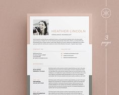 Indesign Resume Template Adorable Lexi Resumecv Template  Word  Photoshop  Indesign Inspiration