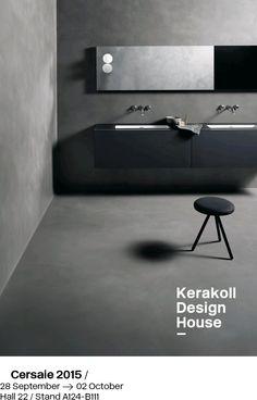 SPECIALE CERSAIE 2015  Anche quest'anno P.Z. Resine sarà lieta di collaborare con Kerakoll Design House per la realizzazione dello stand!  Vieni a trovarci per vedere e toccare con mano la lavorazione delle superfici Kerakoll.
