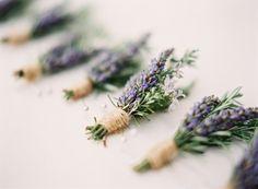 Lavender Bouquets, Centerpieces, and Favors: In Season Now : Brides