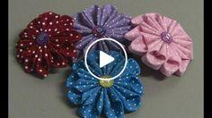 Linda flor de tecido com 10 Petalas - Passo a Passo com flor do jardim