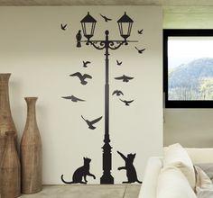 vinilo-decorativo-farola-gatos-palomas-7278