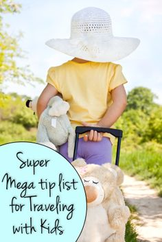 "Mega Tip List: Traveling with Kids-I especially like this one ""Rest Stop Box-stock with jump rope, frisbee, inflatable beach ball and Nerf ball, according to July's issue of Parents Magazine."""
