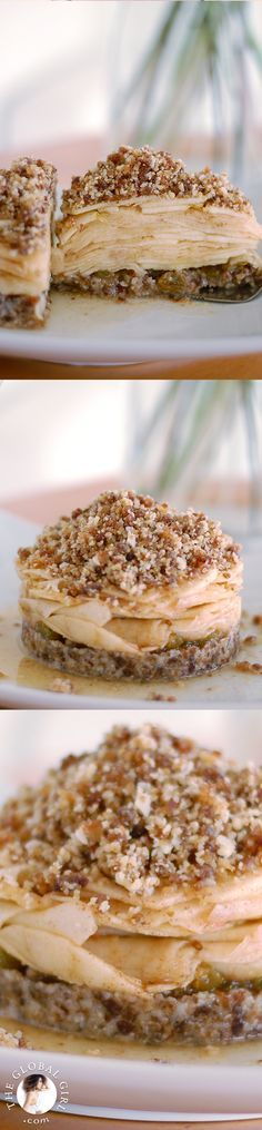 Spicy Raw Vegan & Gluten-Free Southern Apple Crumble from @TheGlobalGirl Raw Recipe Series. Totally guilt-free, healthy & yummy! Get the recipe: http://theglobalgirl.com/product/raw-vegan-dessert-recipes/