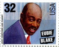 US Stamp 1995 - Legends of American Music Jazz Musicians Eubie Blake Composer and Pianist African Princess, Commemorative Stamps, Vintage Black Glamour, Postage Stamp Art, Black History Facts, Jazz Musicians, Vintage Stamps, African American History, Stamp Collecting