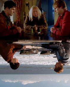 Merlin, Arthur, and Gaius - LOVE this show!!!