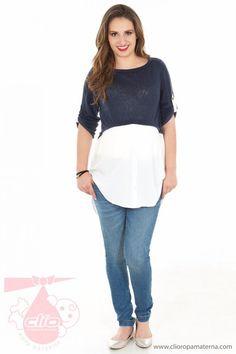 Ropa materna con las tendencias de la moda.
