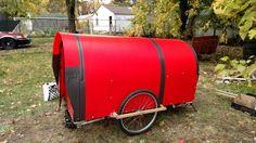 DIY Bicycle Camper Caravan work in progress.