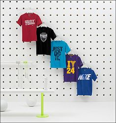 Upsized Pegboard T-Shirt Display