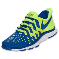 Men's Nike Free Trainer 5.0 Cross Training Shoes  Volt/White/Hyper Blue