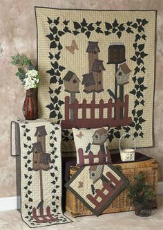 Bird House Quilts   Choices Quilts offers Bird House Quilts handmade for you! You can shop online or call us toll-free @ 1-800-572-2070 or 770-641-9700.