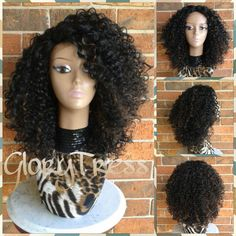 On Kelly Rowland Inspired Hairstyle Kinky Curly Lace Front Wig Big... ($89) ❤ liked on Polyvore featuring beauty products, haircare, hair styling tools, bath & beauty, black, hair care, wigs and curly hair care
