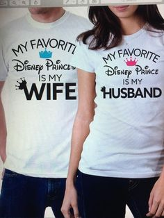 My Favorite Disney Prince/Princess Is My Husband/Wife Couples Shirt - Hoco Shirts - ideas of Hoco Shirts - These Husband/Wife Couples Shirt are perfect! Especially for an anniversary or honeymoon couple. Cute Couple Shirts, Disney Couple Shirts, Disney Couples, Family Shirts, Disney Family, My Husband's Wife, Husband Wife, Couple Outfits, Disney Outfits