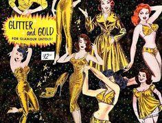GLITTER AND GOLD  MAKE THE WORLD GO ROUND...... #moonshinenettie #vintagead #glitter #gogo #chachaheels #vintage #gold #fortheloveofvintage #fabulous#gorgeous#glamourous #pinup#advertising #hot #frenchquarter#followyournola #thatlacommunity #vintagenola#nolavintage#nola#nolastyle #vintagestyle by moonshinenettie