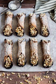 Chocolate-Hazelnut Cannoli | Brina's Bites