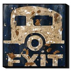 I pinned this Camper Exit Wall Art from the Word for Word event at Joss and Main!