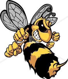 Bee Hornet Cartoon Vector Image Stock Illustration