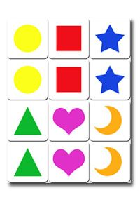 memory game for baby to print